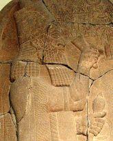 Mossoul, stèle d'Assahardon au Permamon de Berlin, après -671