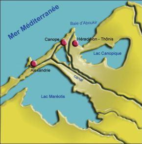 carte région Alexandrie antiquité