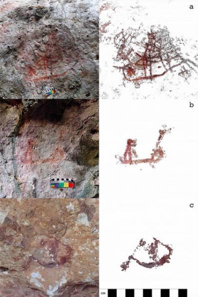 peintures rupestres kisar indonesie