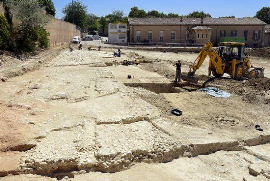 Découverte d'une voie romaine à Aix-en-Provence