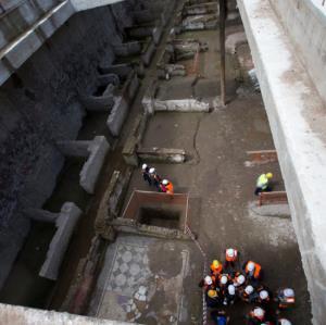 fouilles archéologiques métro Rome