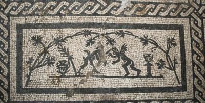 mosaïque romaine satyres