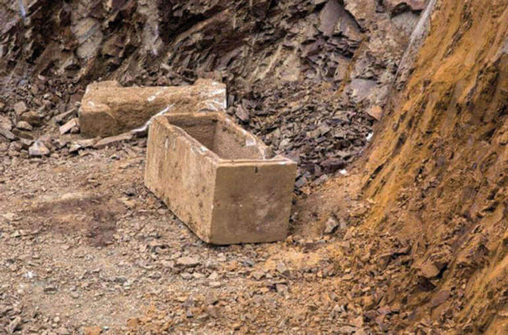 Sarcophage romain retrouvé à Chalcédoine, près d'Istanbul