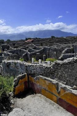 balcon fresques site archéologique Pompéi