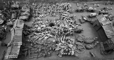 Une armée de terre cuite miniature près de la tombe d'un prince chinois