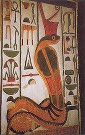 Bas-relief montrant la déesse cobra Ouadjet