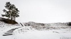 Bradeliškių piliakalnis žiemą