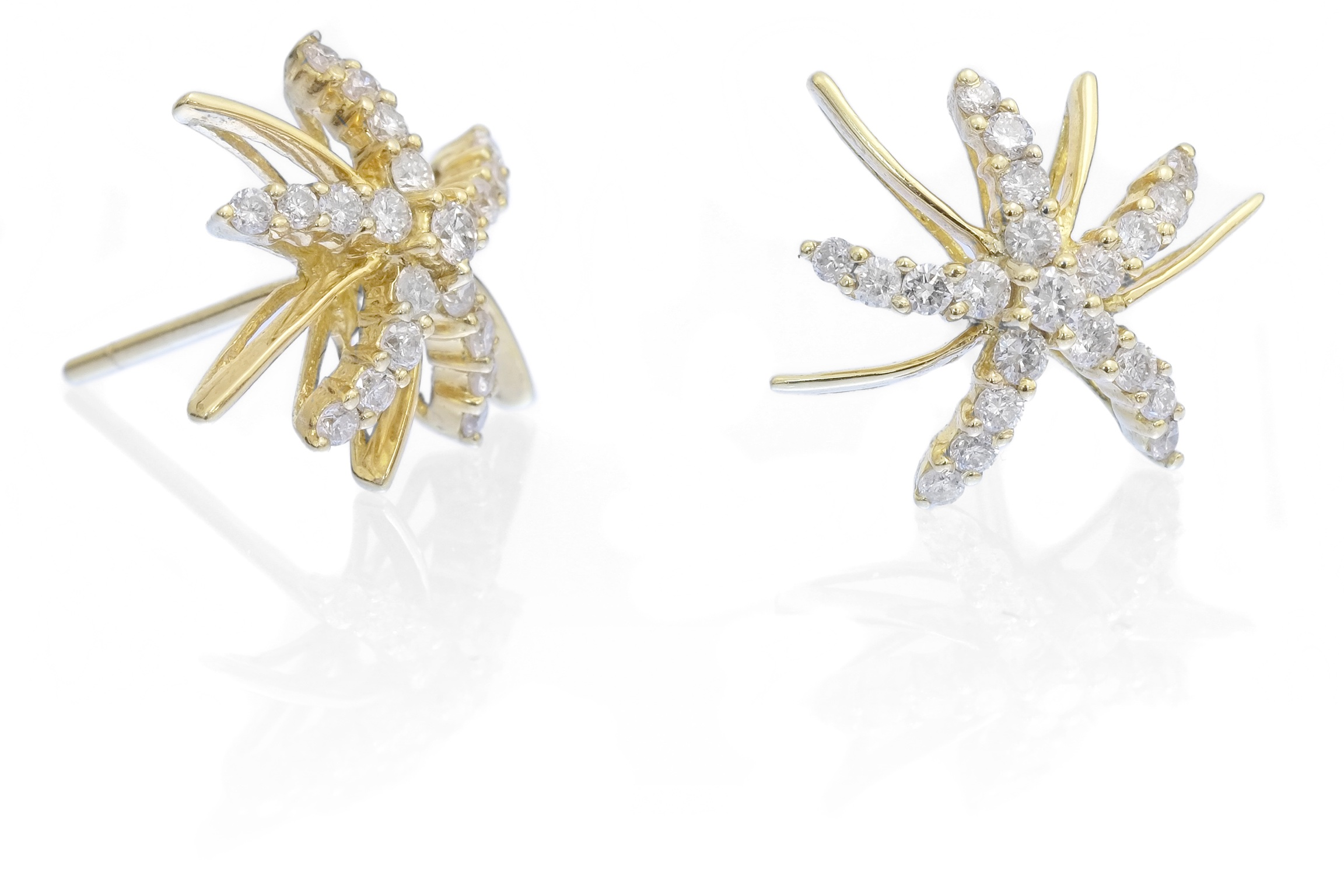 Yellow Gold Diamond Star Stud Earrings Archer Amp Holland