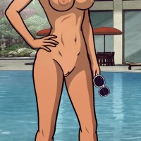 Lana Kane never puts on a swimsuit when she wants to swim in the pool