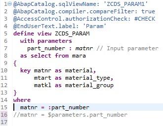 CDSWithParameter