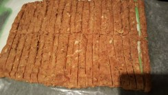 Homemade Pupperoni sliced