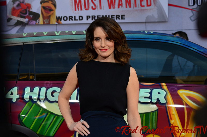 Comedian Tina Fey at a Hollywood movie premiere