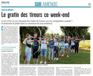 Championnat Hauts de France / Article Courrier Picard
