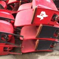 Red Figural Floor-mount Astrodome Seats