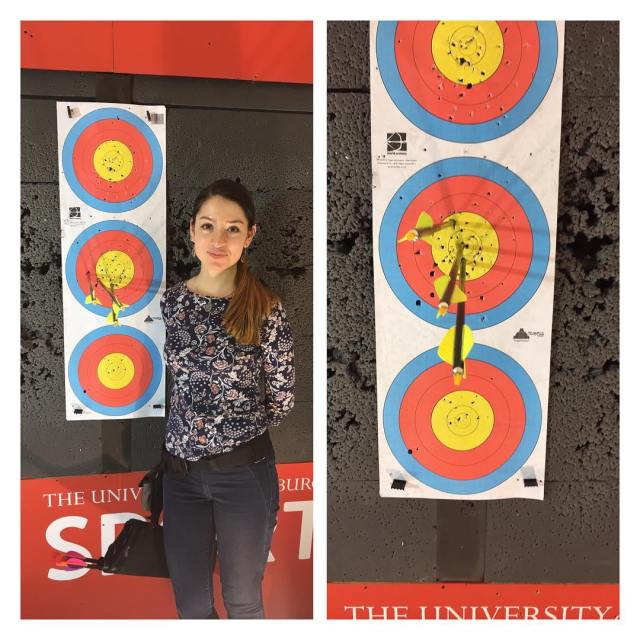 EUAC development squad member Veronica wanted to try compound todayhellip