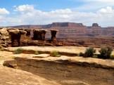 """Walking Rocks"" show differential erosion near Musselman Arch."