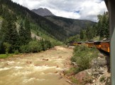 The Animas River flows alongside for the journey.