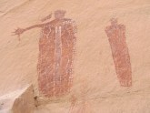 Barrier Canyon Style pictographs from 2000-4000 years ago. Stunning.