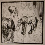 Herd: Trio - woodcut