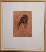 Spring Path: Migrant Native - lithograph, silkscreen, stenclied relief, and chine colle
