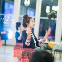 Hmong dance group