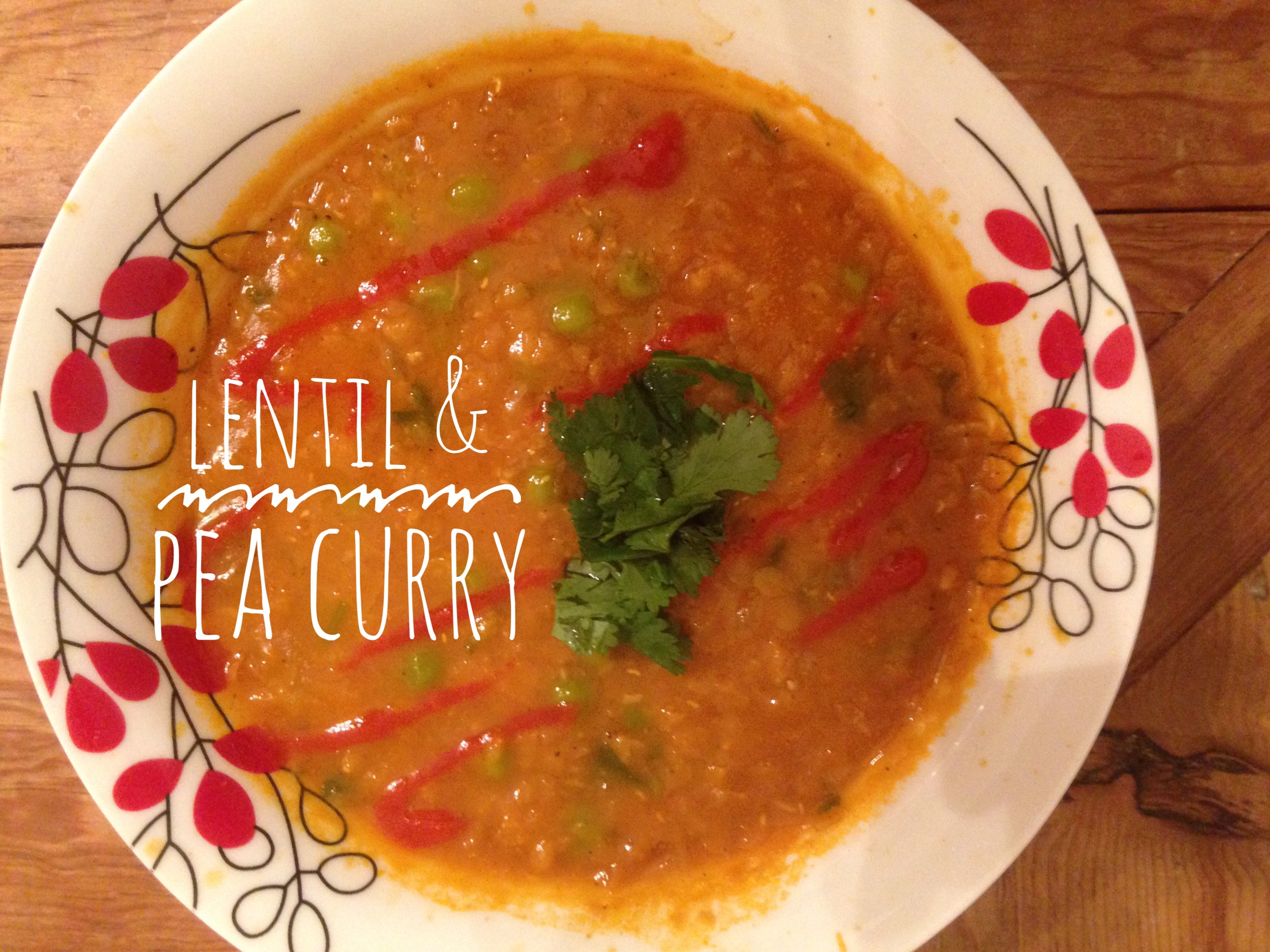 lentil & pea curry