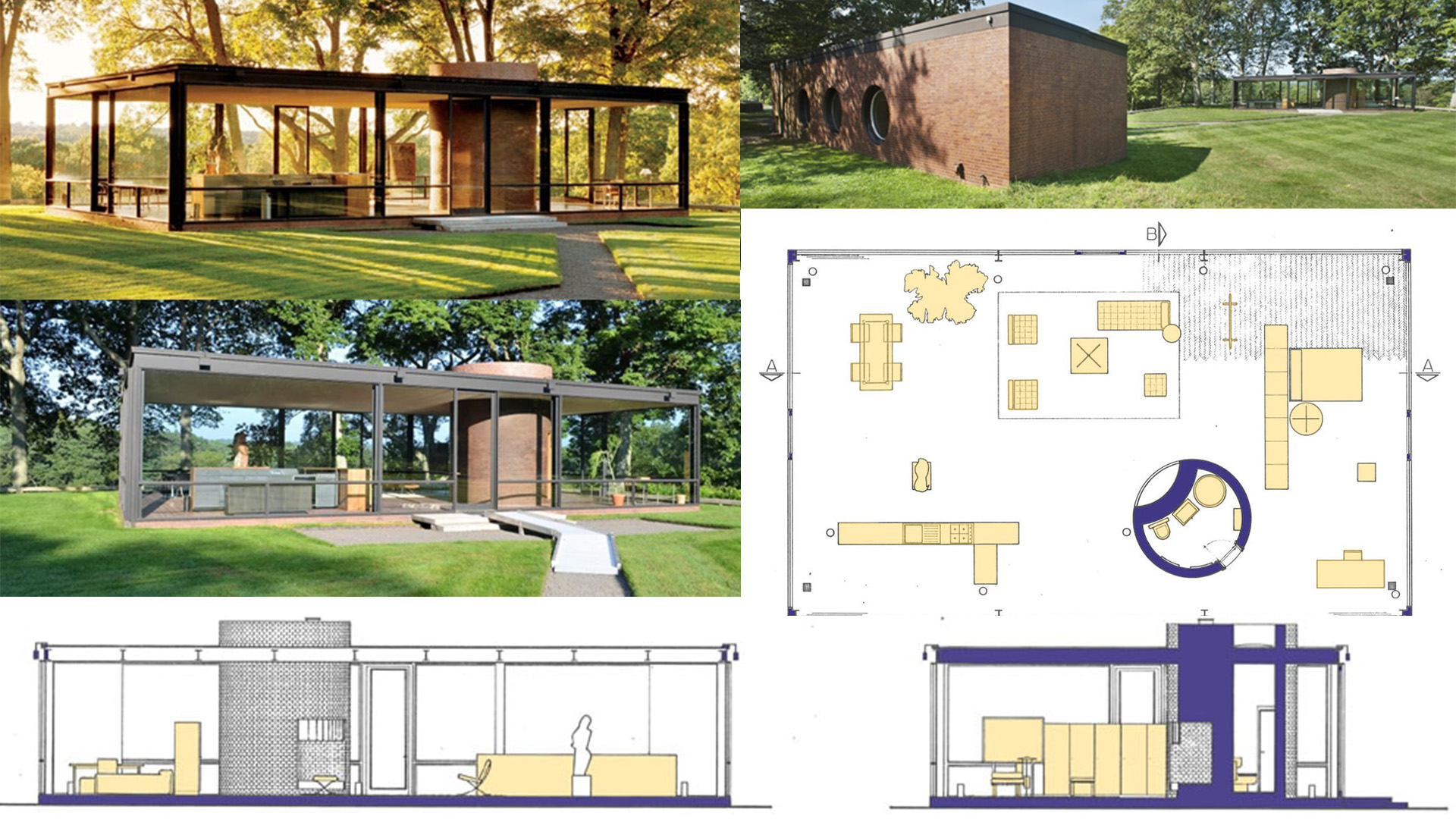 """The Glass House – A house with an """"expensive wallpaper"""""""