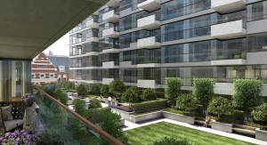 Landscaping CGI of Exterior View U at One Tower Bridge Development