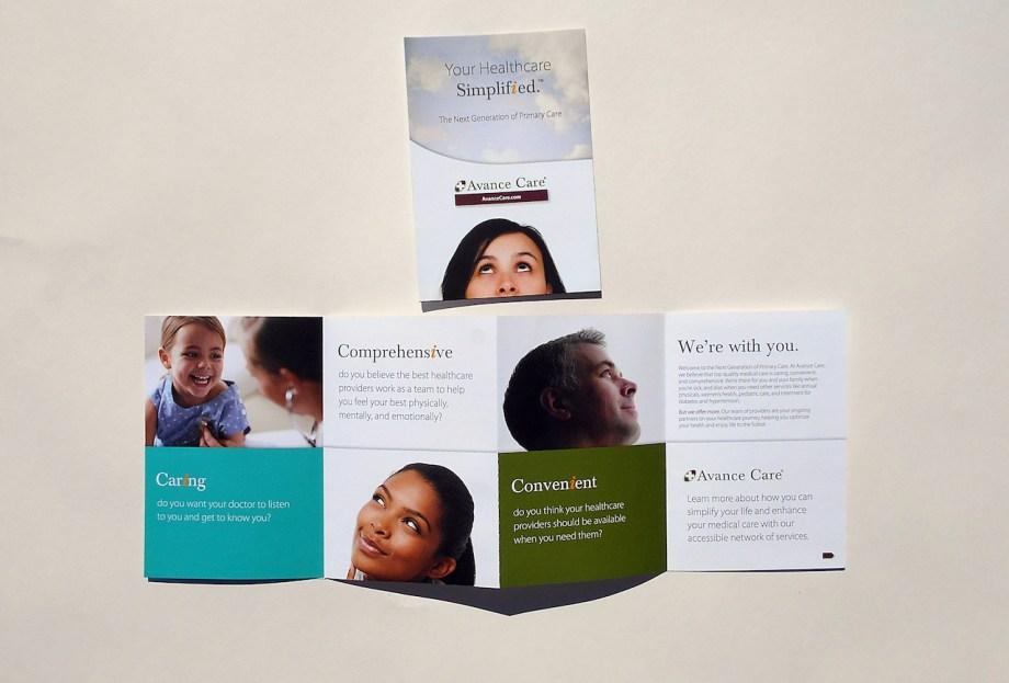 graphic design sample 4 panel brochure