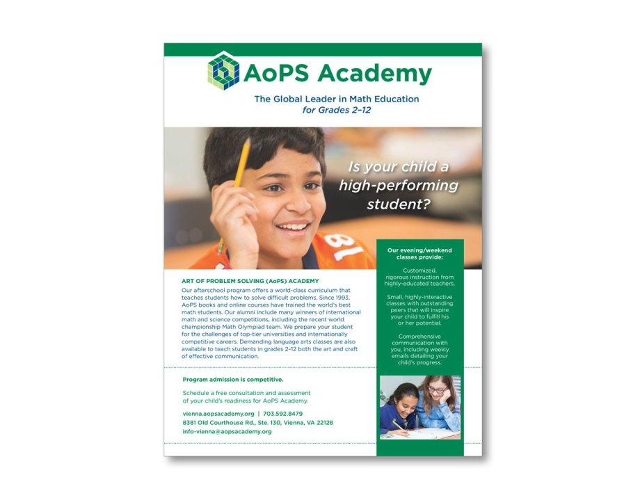 design portfolio piece fact sheets educational institution