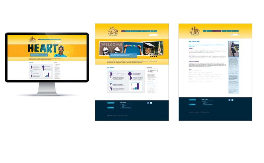 graphic design sample wordpress website