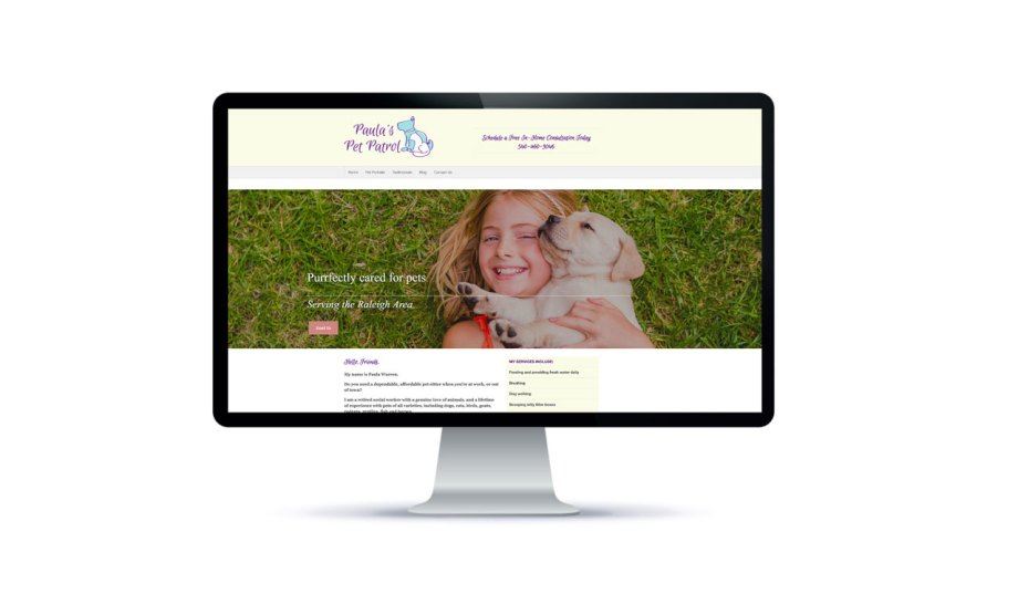 Raleigh Graphic Design Firm Sample website