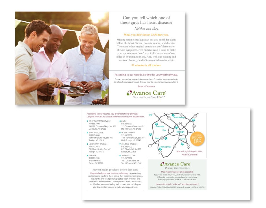 direct mail design sample