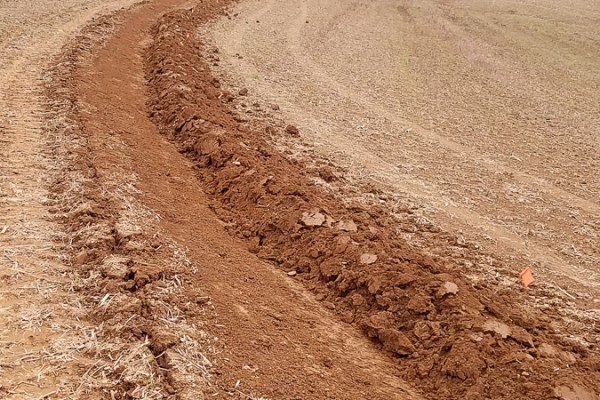 Initial Grading For A Contour Swale