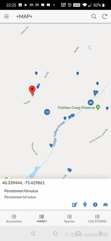 ArcheWild GPS LOG - Species Map