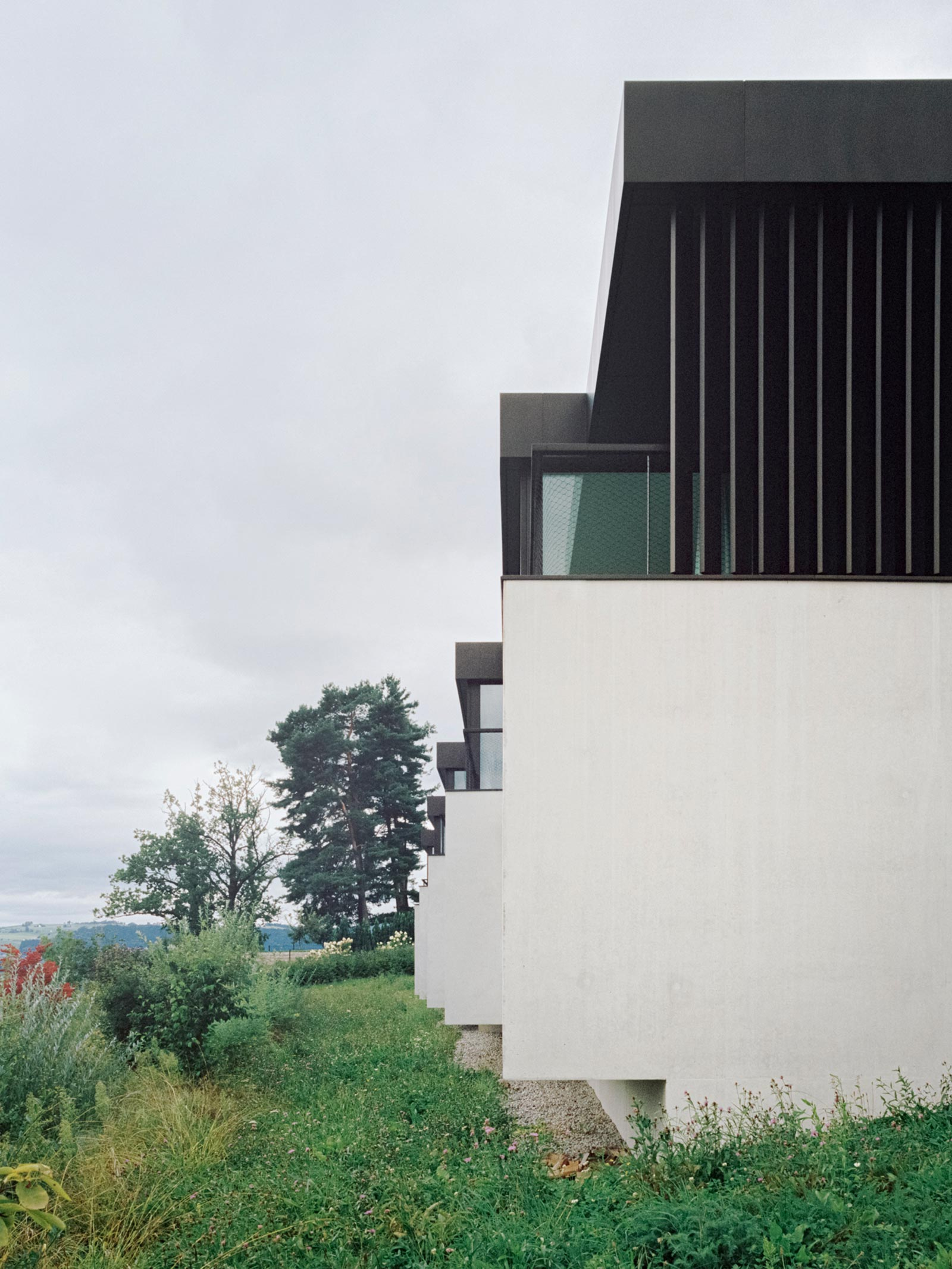 five patio houses in meilen think