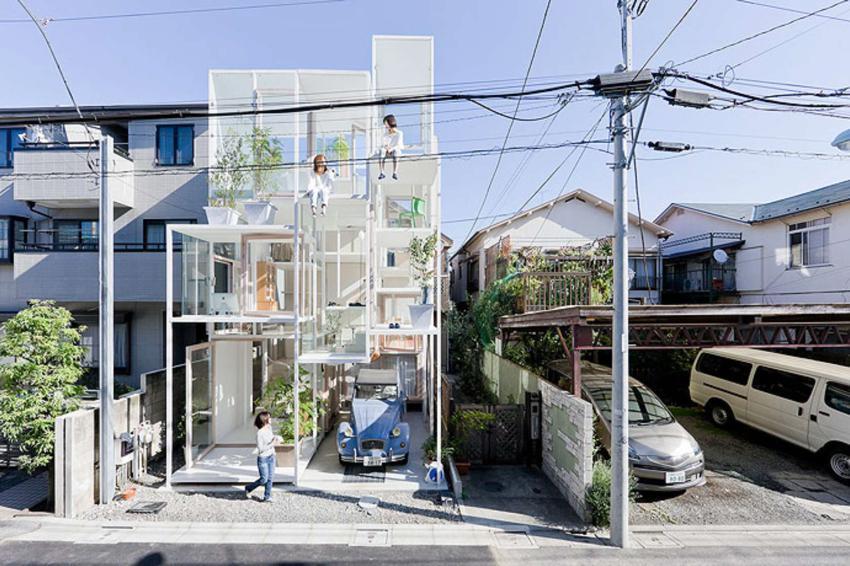Exterior View of NA House Sou Fujimoto
