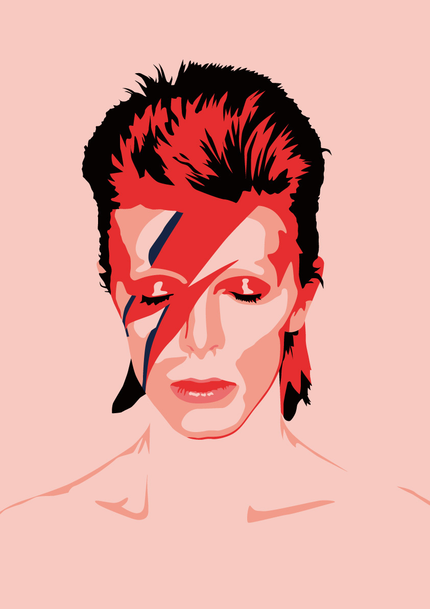 David Bowie Art illustration