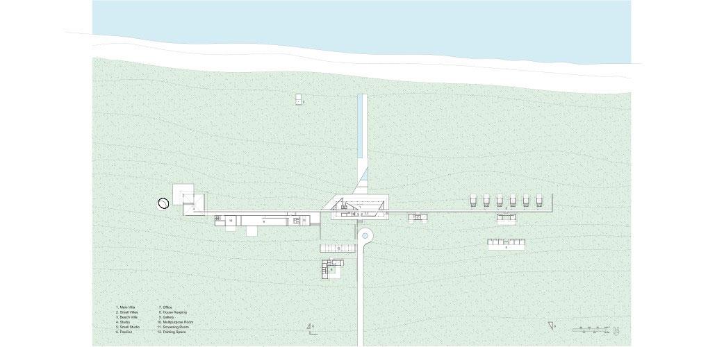 Casa Wabi Site Plan | © Tadao Ando