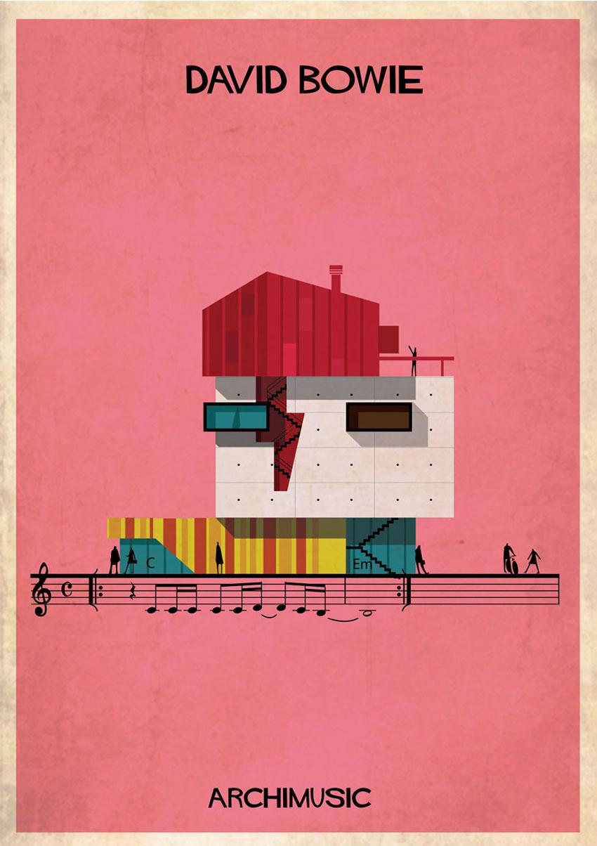 David Bowie Illustration by Federico Babina