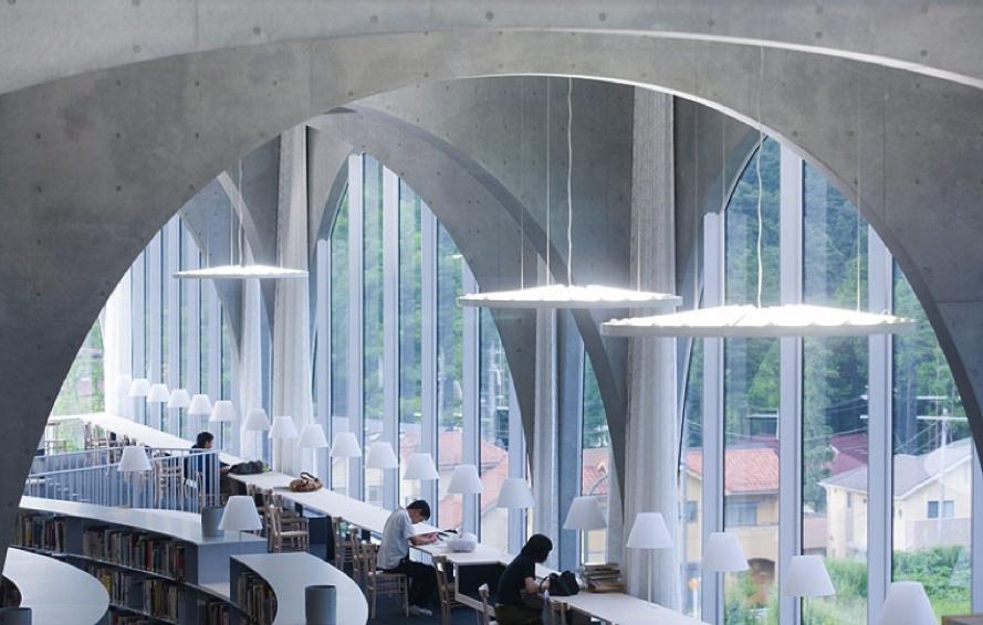 Toyo Ito Tama Art University ibrary