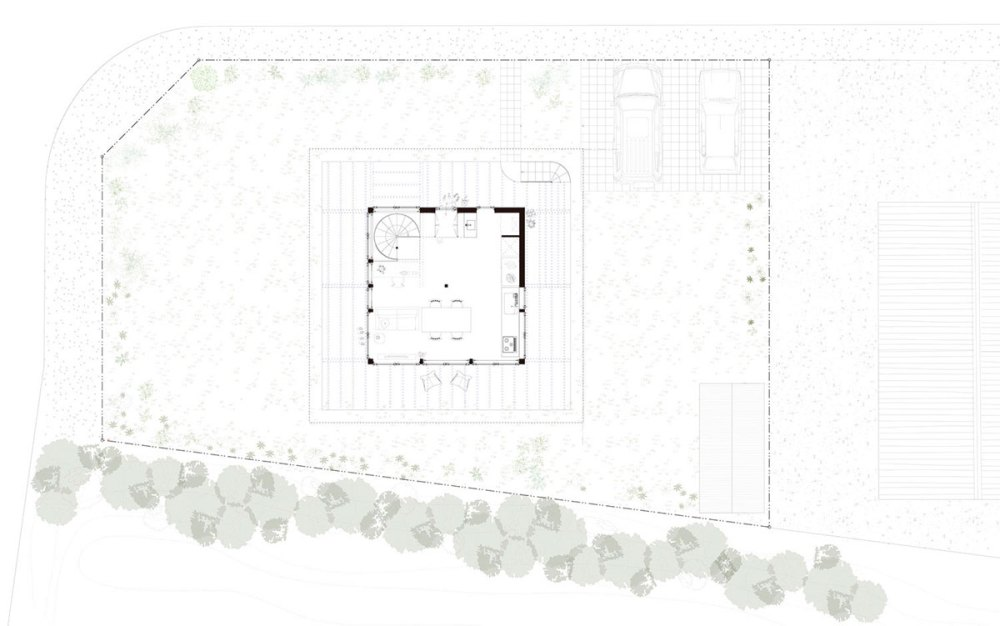 Site Plan of H Hat House