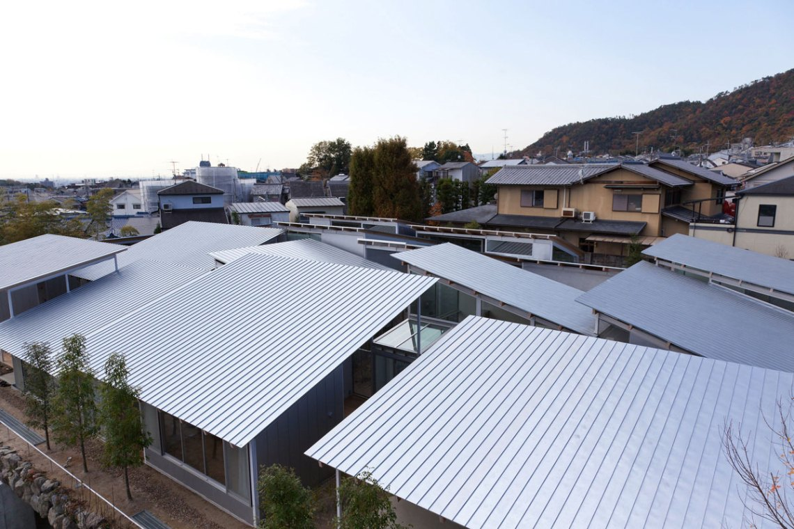 Roof of the house - aerial view