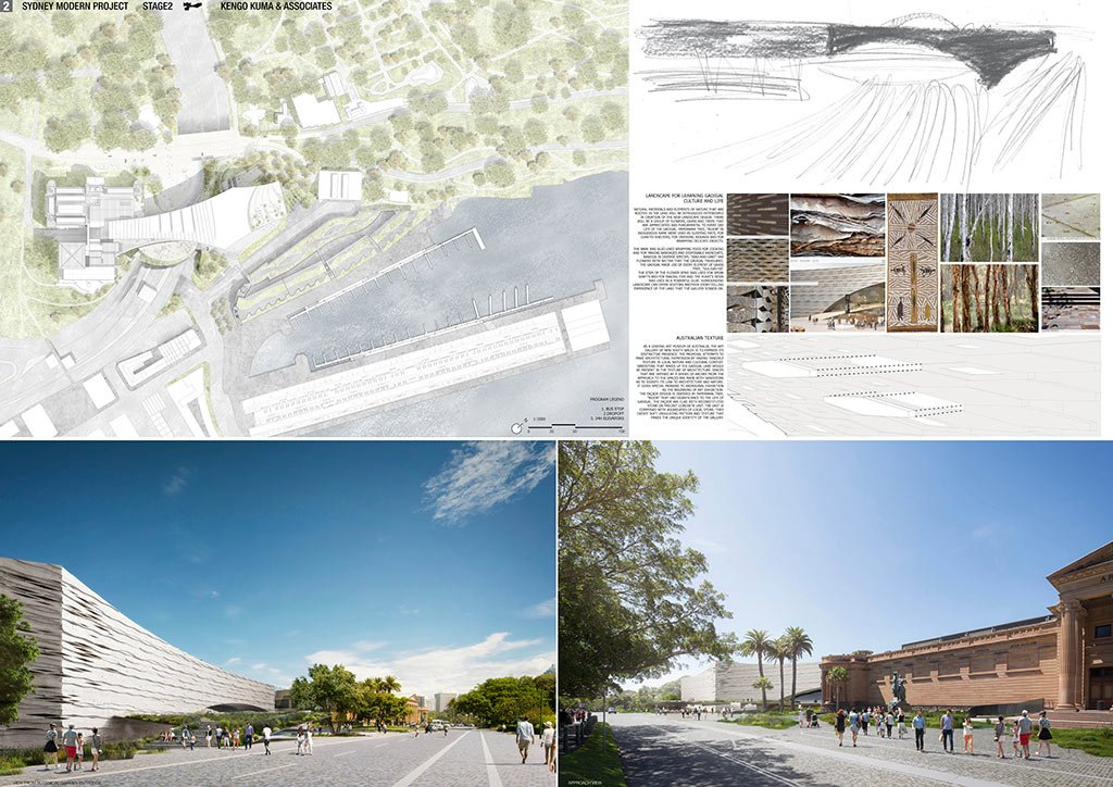 Kengo Kuma proposal for the Sydney Art Gallery Expansion