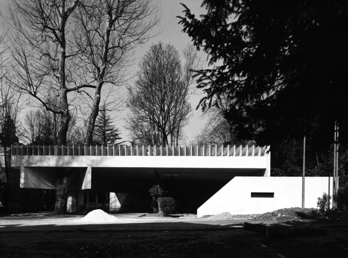 Exterior - Nordic Pavilion in Brussels for the World Exhibition of 1962