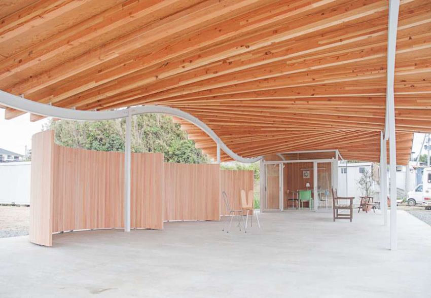 Wood Structure - Home for All Shelter in Tsukihama by SANAA