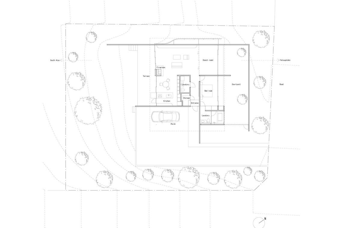 Floor Plan of the Solid Cedar House / Shigeru Ban
