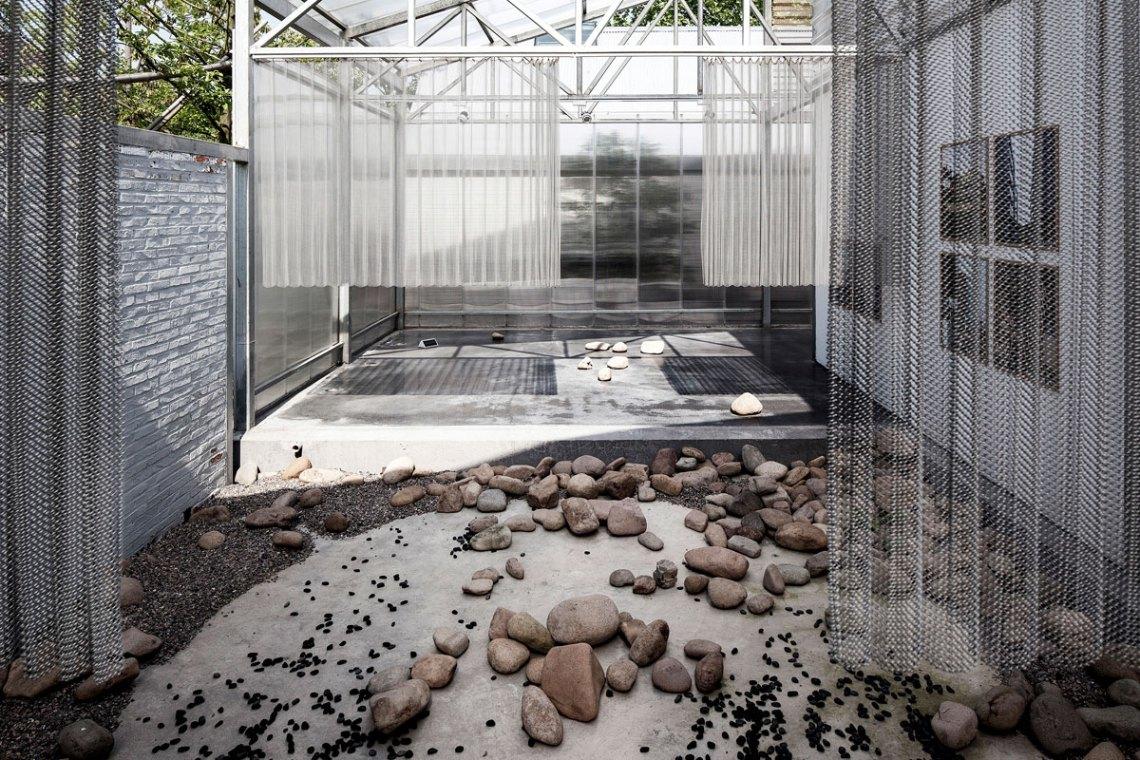Courtyard of studio Atelier GOM