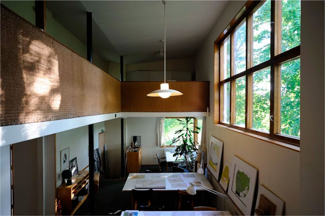 Double height space of the interior of the house