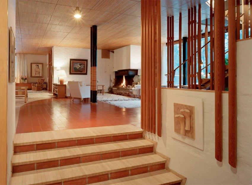 Corridor of Villa Mairea by Alvar Aalto